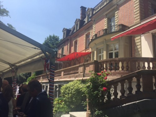 Résidence de l'ambassade de France, Berne, 14 juillet 2015