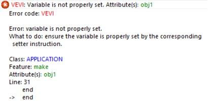 Compiler error message