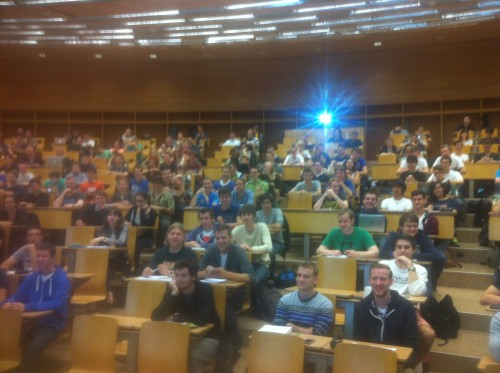 Introduction to Programming, ETH Zurich, September 2014, first day of class