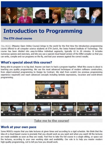 Introduction to Programming MOOC