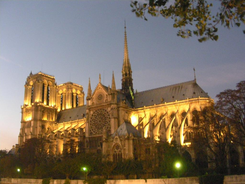 Notre Dame on an October evening