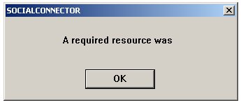 A required resource was