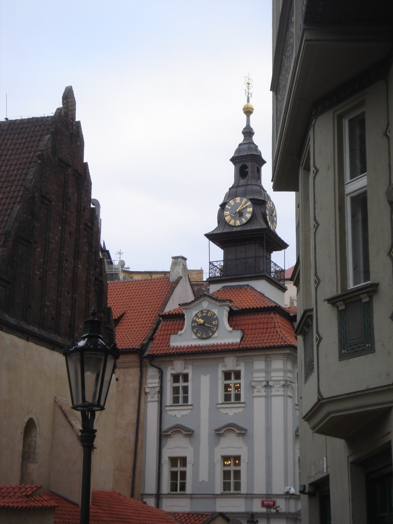 Three clocks on the Jewish Town Hall